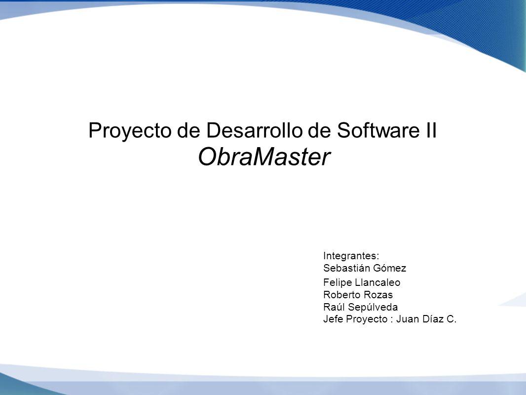 Proyecto de Desarrollo de Software II ObraMaster