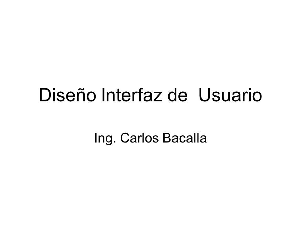 Diseño Interfaz de Usuario