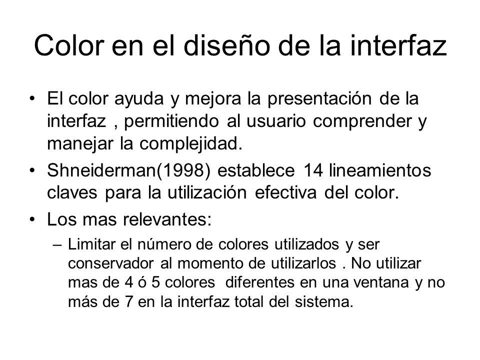 Color en el diseño de la interfaz