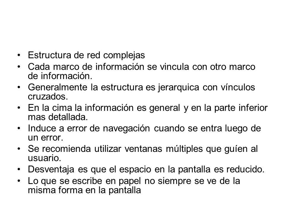 Estructura de red complejas