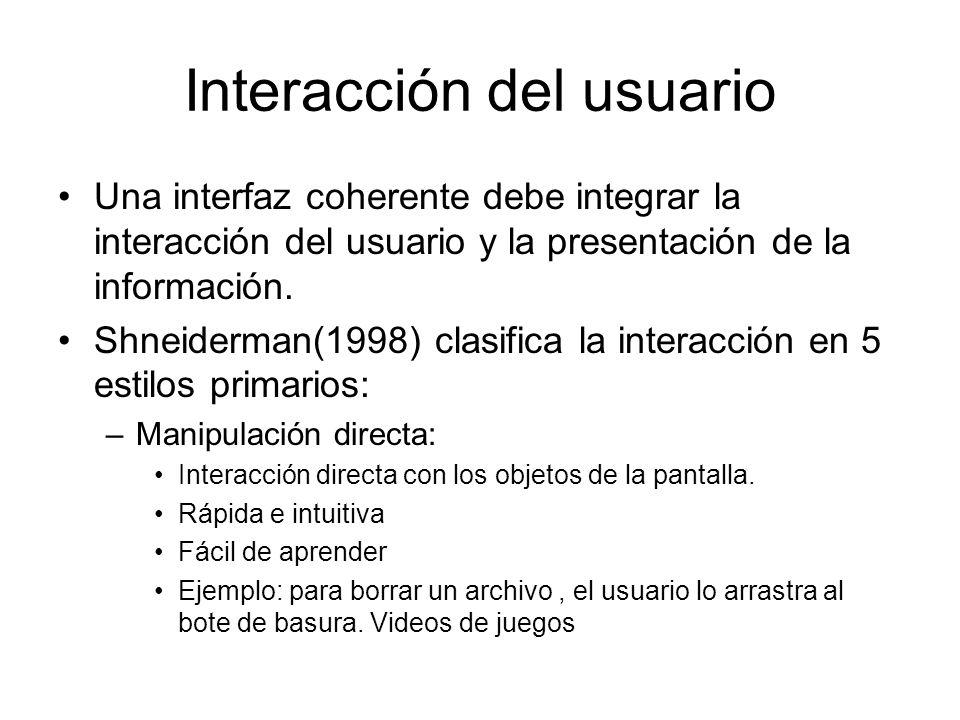 Interacción del usuario