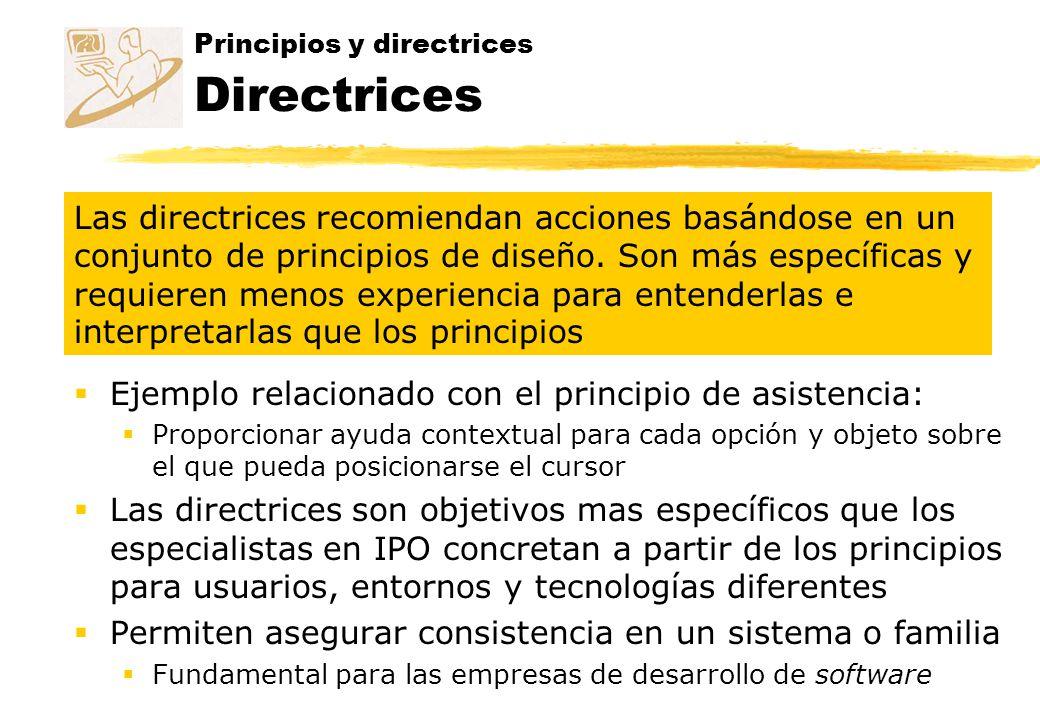 Principios y directrices Directrices