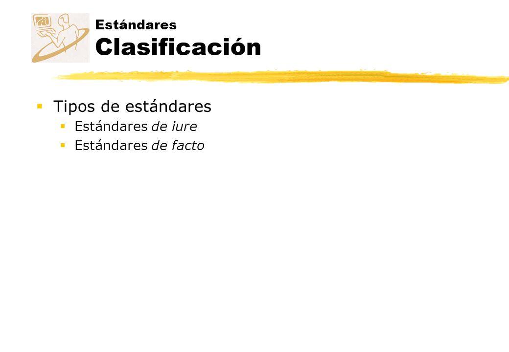 Estándares Clasificación