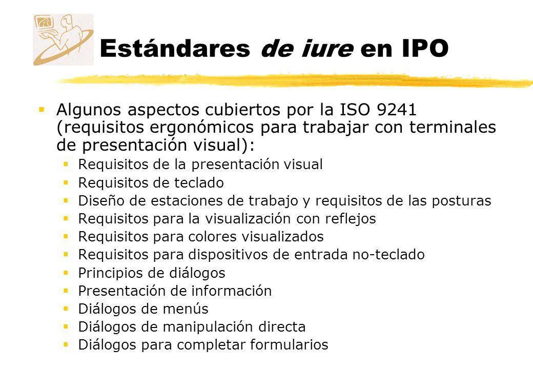 Estándares de iure en IPO