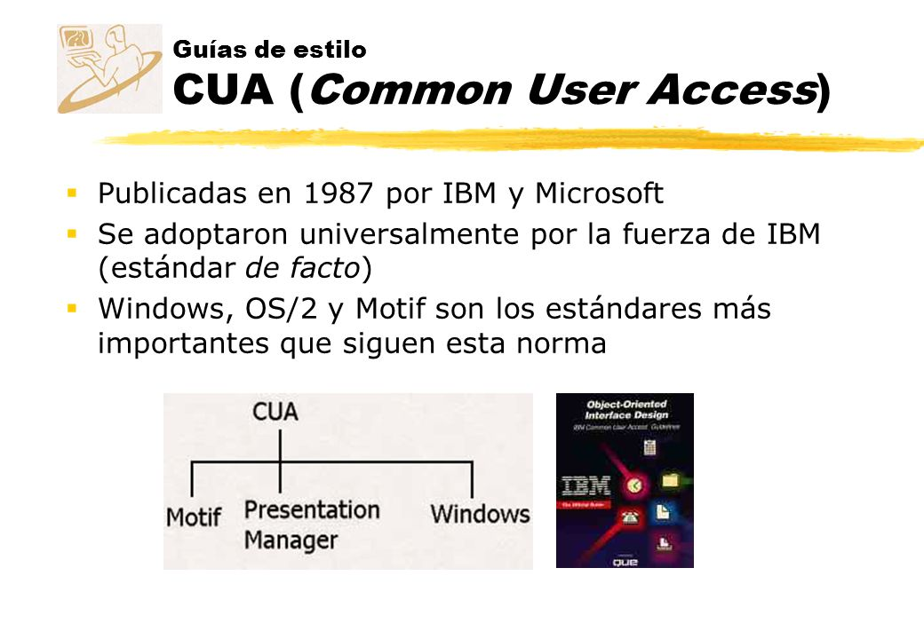 Guías de estilo CUA (Common User Access)