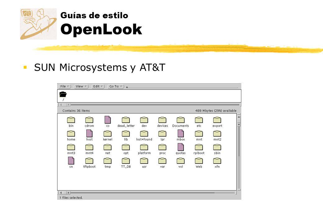 Guías de estilo OpenLook