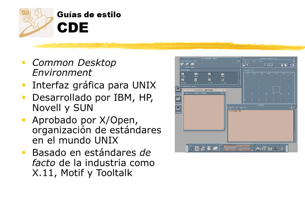 Common Desktop Environment Interfaz gráfica para UNIX