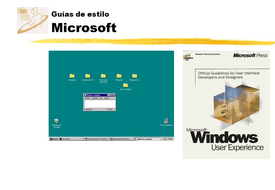 Guías de estilo Microsoft