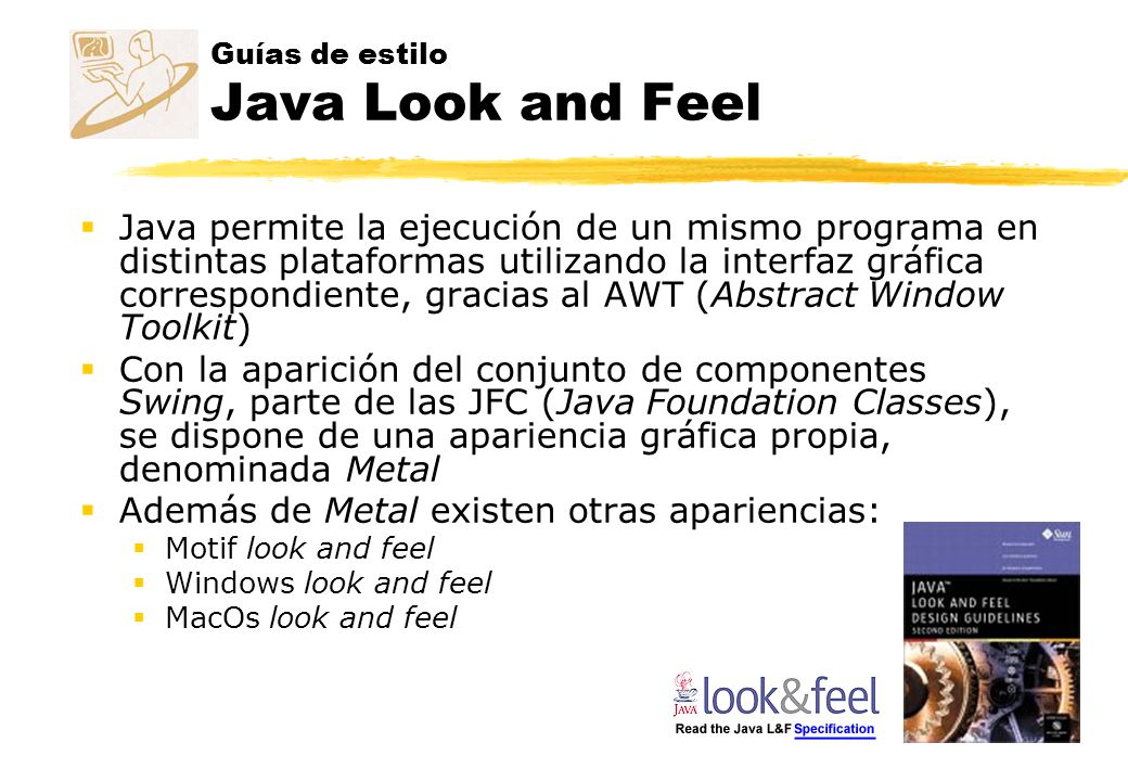Guías de estilo Java Look and Feel
