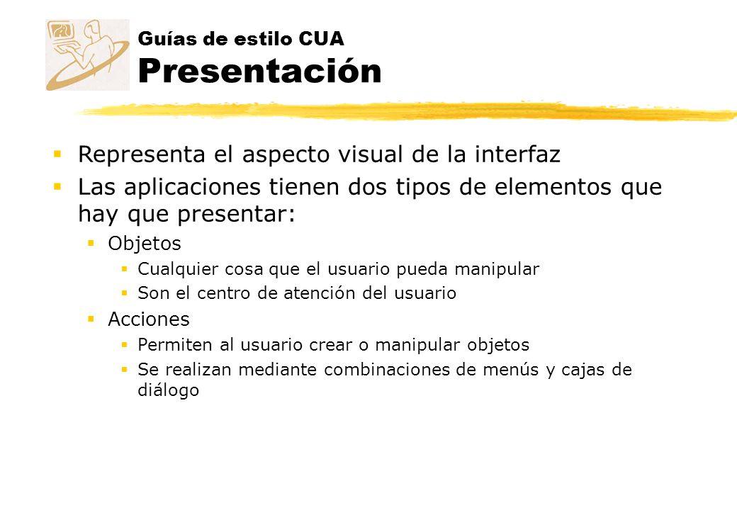 Guías de estilo CUA Presentación