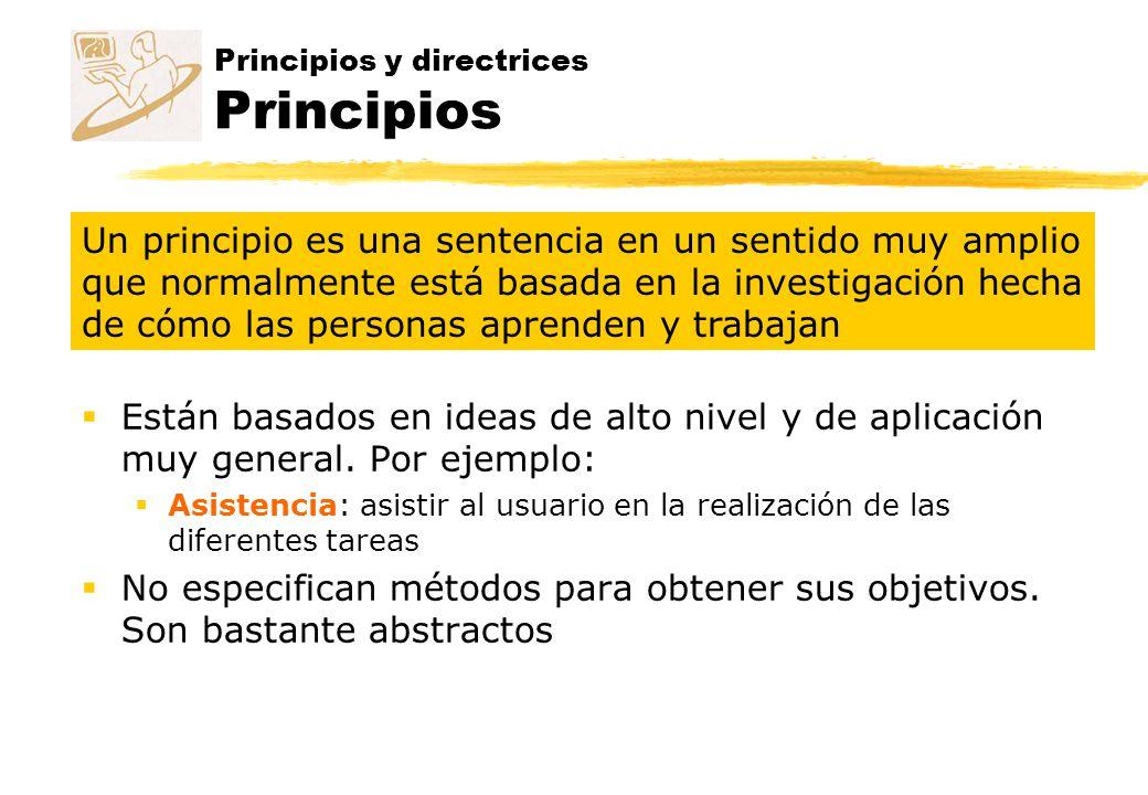 Principios y directrices Principios