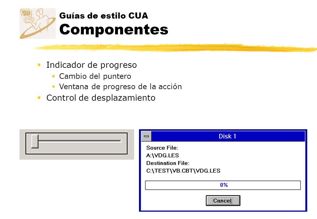 Guías de estilo CUA Componentes