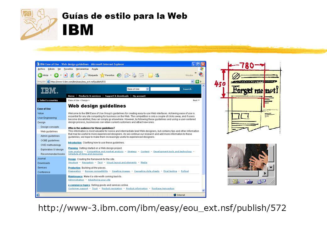 Guías de estilo para la Web IBM