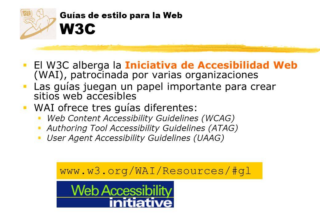 Guías de estilo para la Web W3C