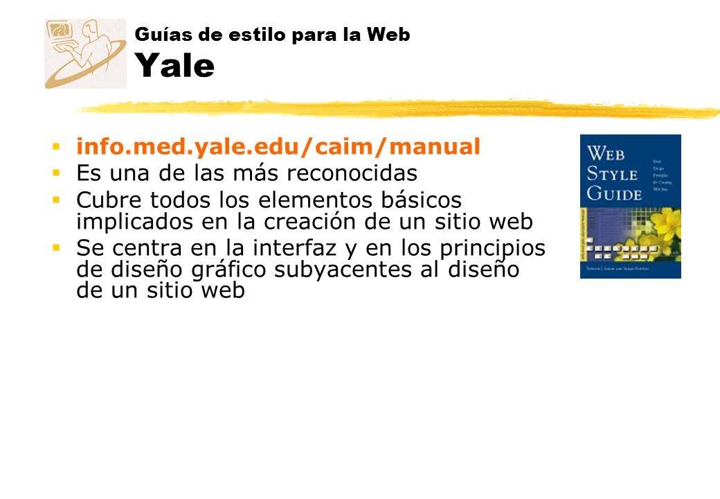 Guías de estilo para la Web Yale