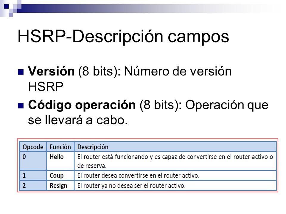HSRP-Descripción campos