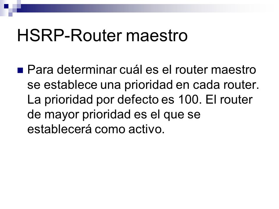 HSRP-Router maestro
