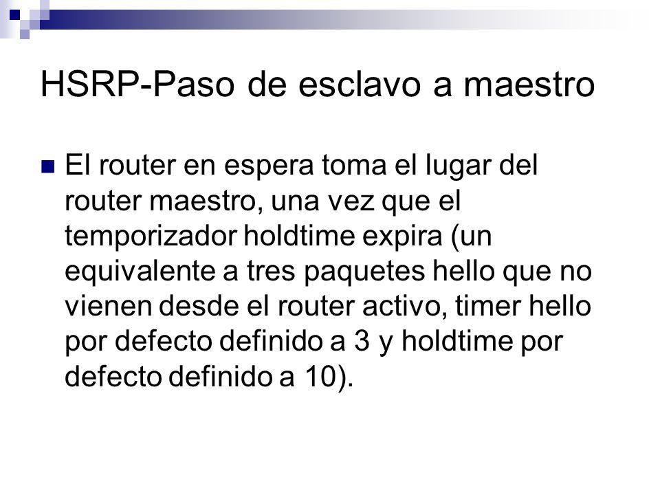 HSRP-Paso de esclavo a maestro