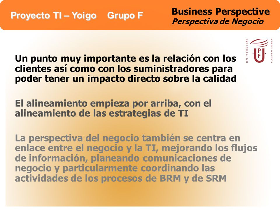 Business Perspective Perspectiva de Negocio