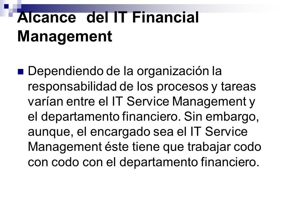 Alcance del IT Financial Management