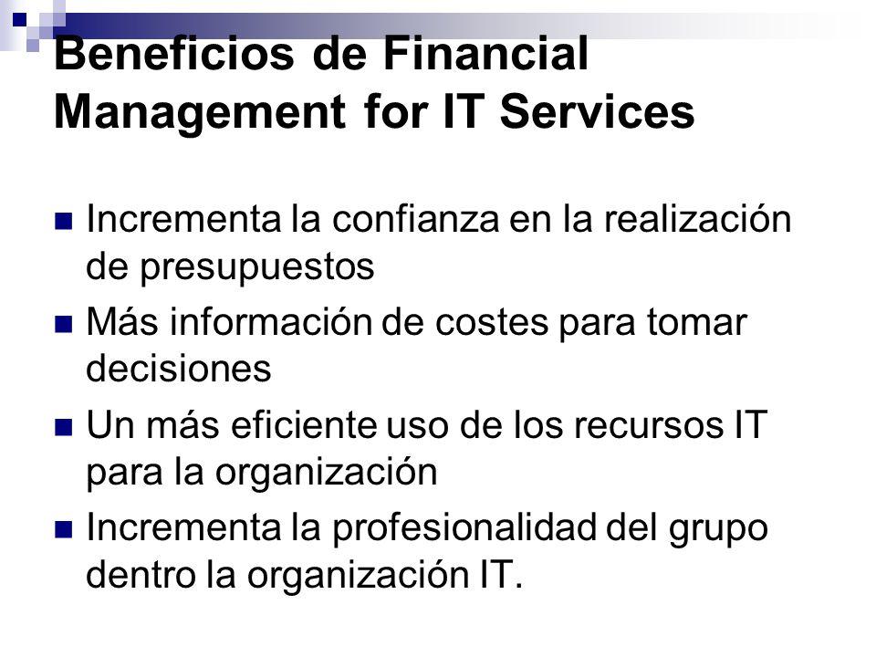 Beneficios de Financial Management for IT Services