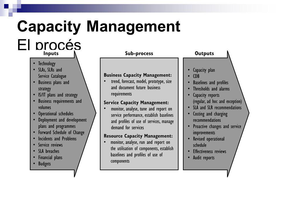 Capacity Management El procés