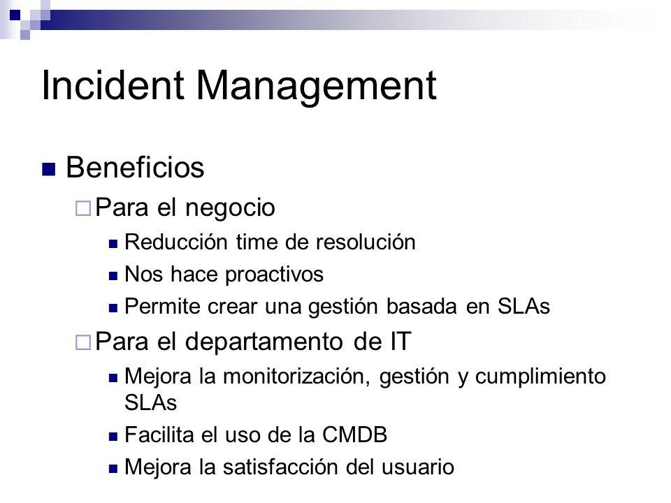 Incident Management Beneficios Para el negocio