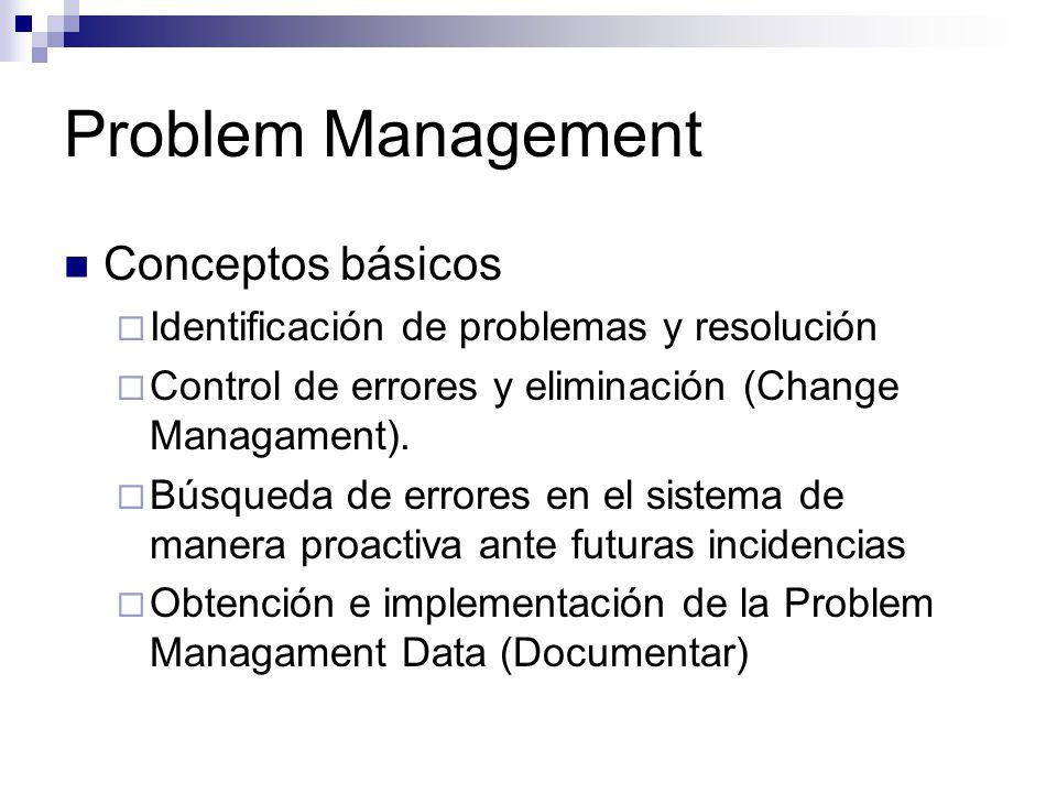 Problem Management Conceptos básicos