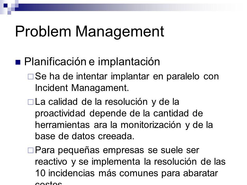 Problem Management Planificación e implantación