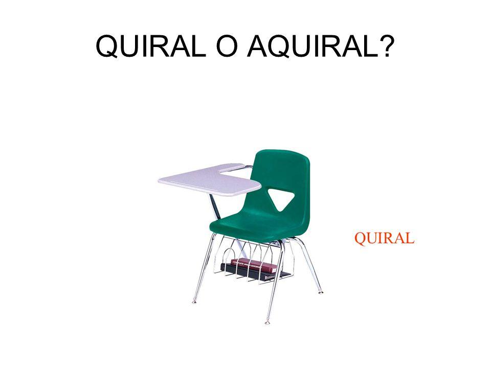 QUIRAL O AQUIRAL QUIRAL