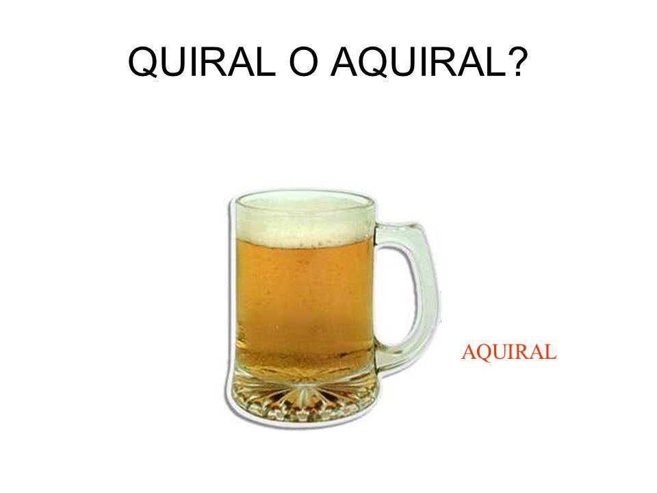 QUIRAL O AQUIRAL AQUIRAL