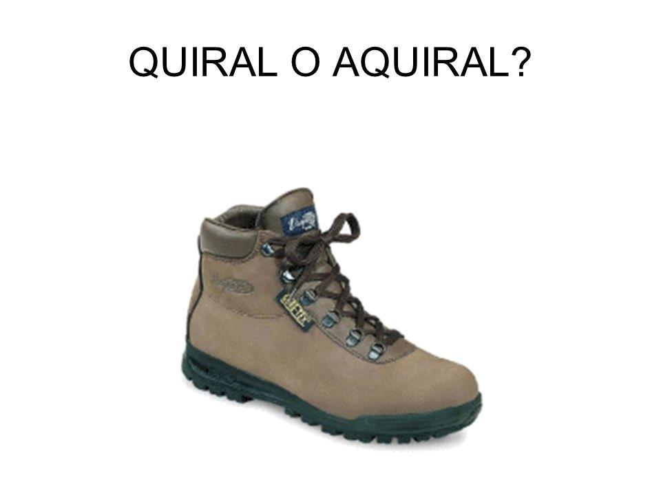 QUIRAL O AQUIRAL