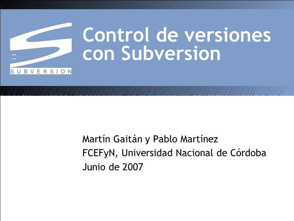 Control de versiones con Subversion