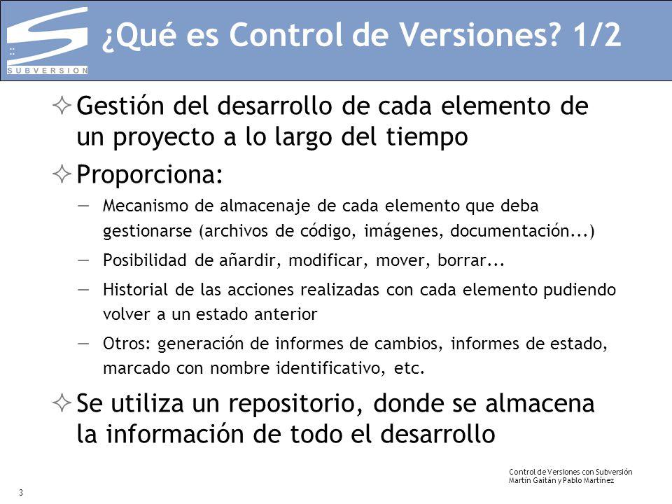 ¿Qué es Control de Versiones 1/2