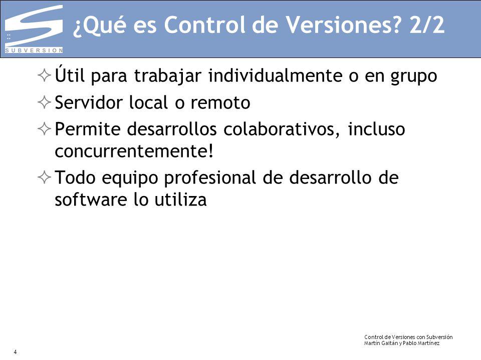 ¿Qué es Control de Versiones 2/2