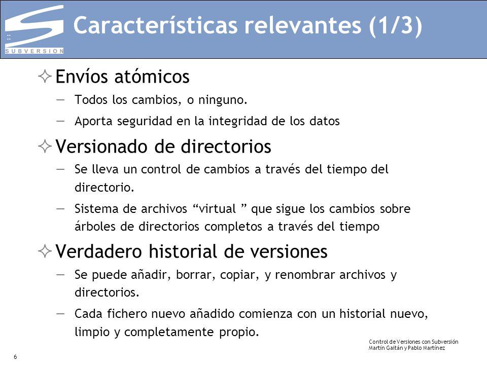 Características relevantes (1/3)
