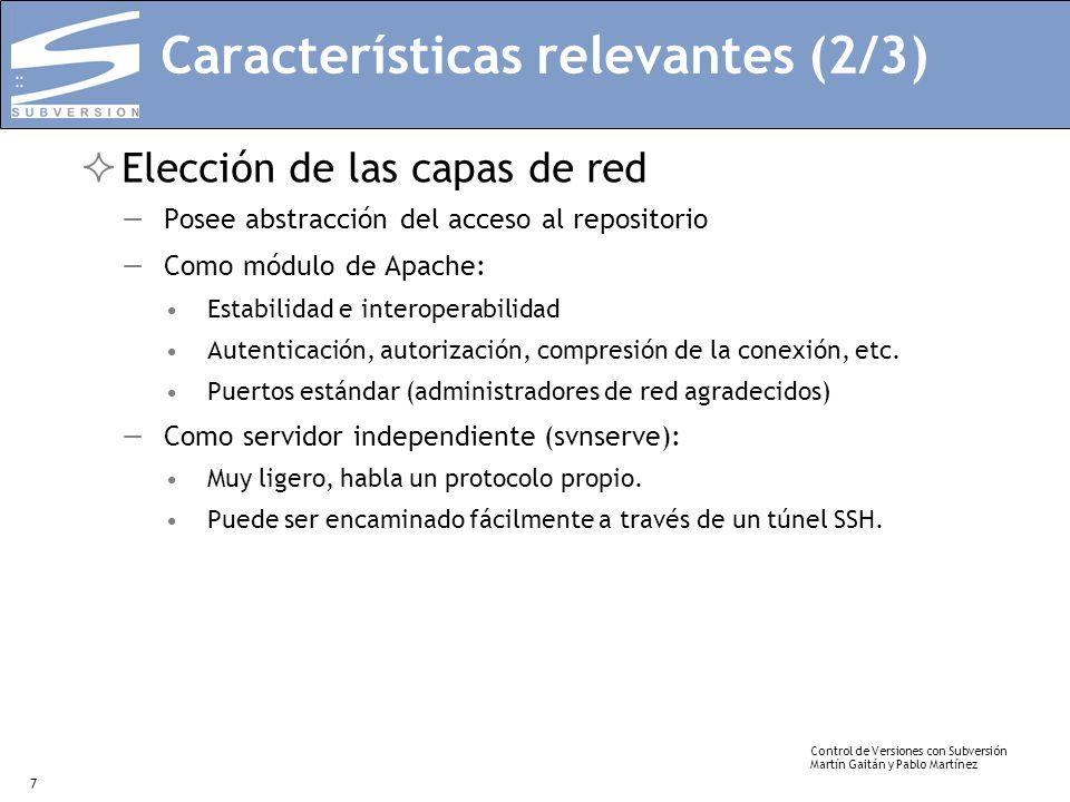 Características relevantes (2/3)
