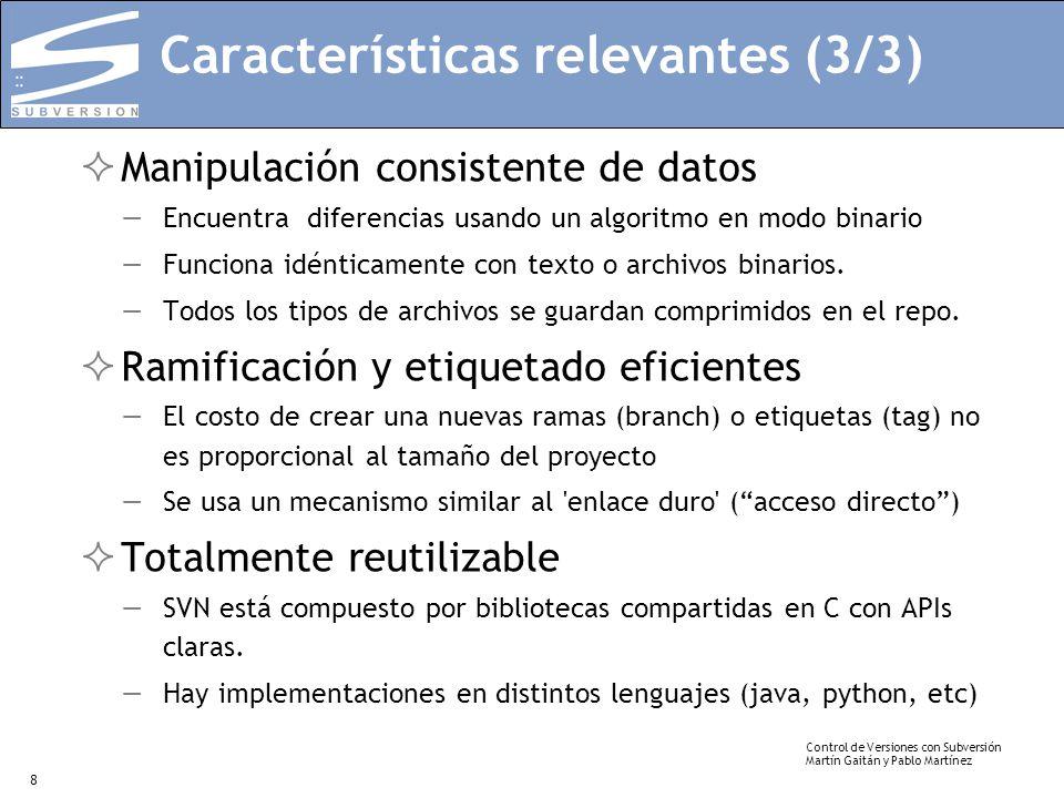 Características relevantes (3/3)