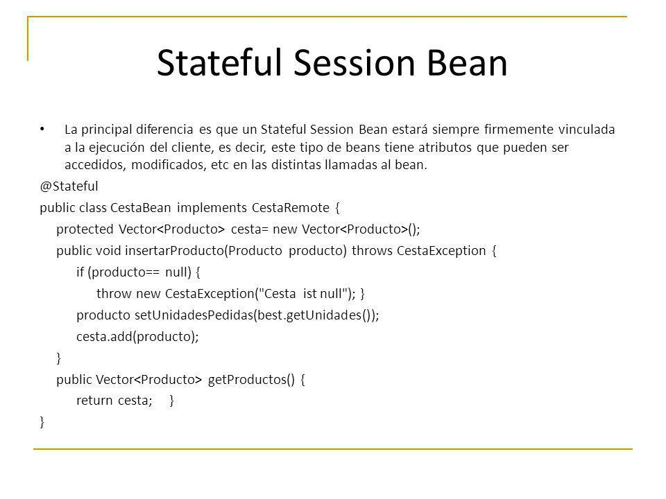 Stateful Session Bean