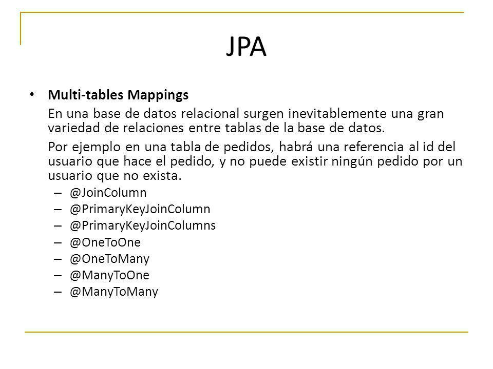 JPA Multi-tables Mappings