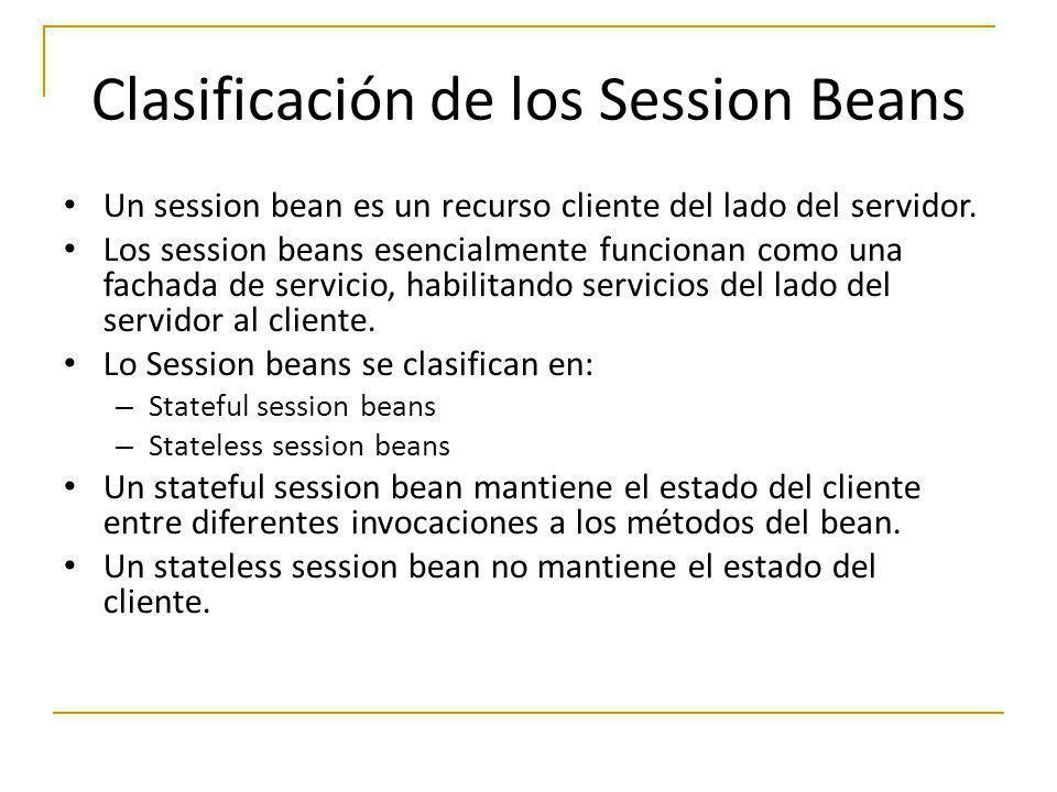 Clasificación de los Session Beans