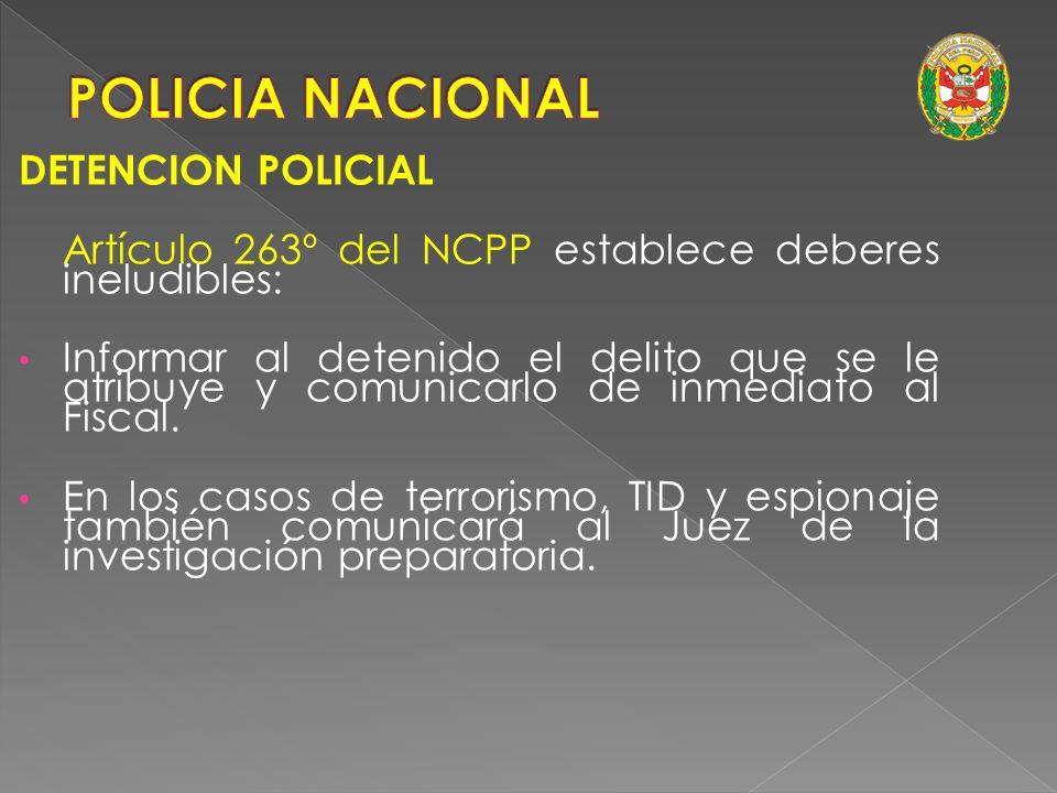 POLICIA NACIONAL DETENCION POLICIAL