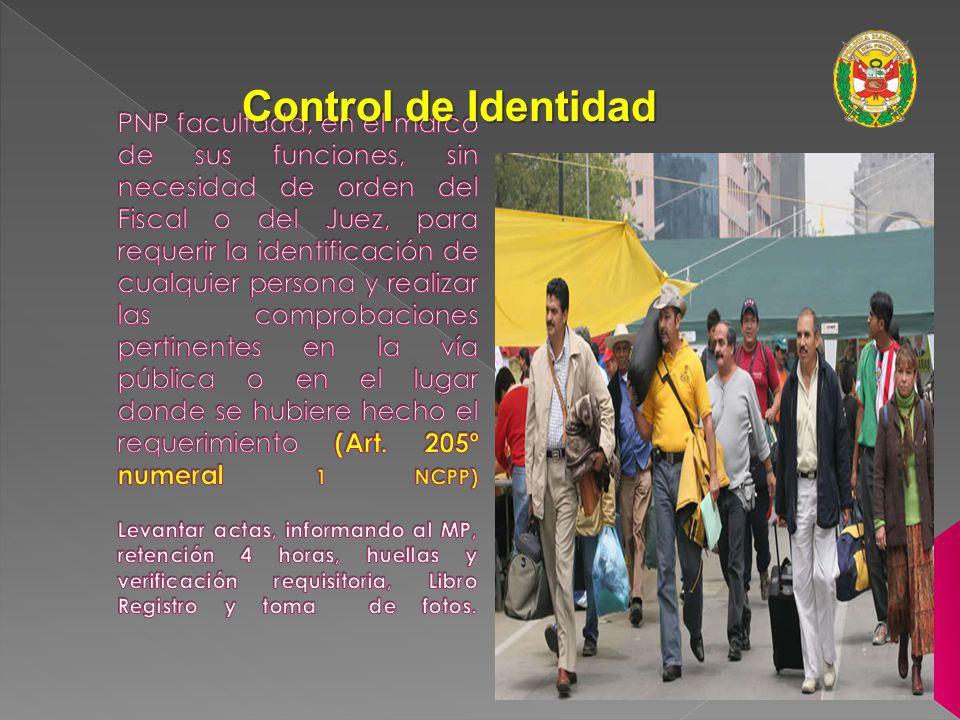 Control de Identidad