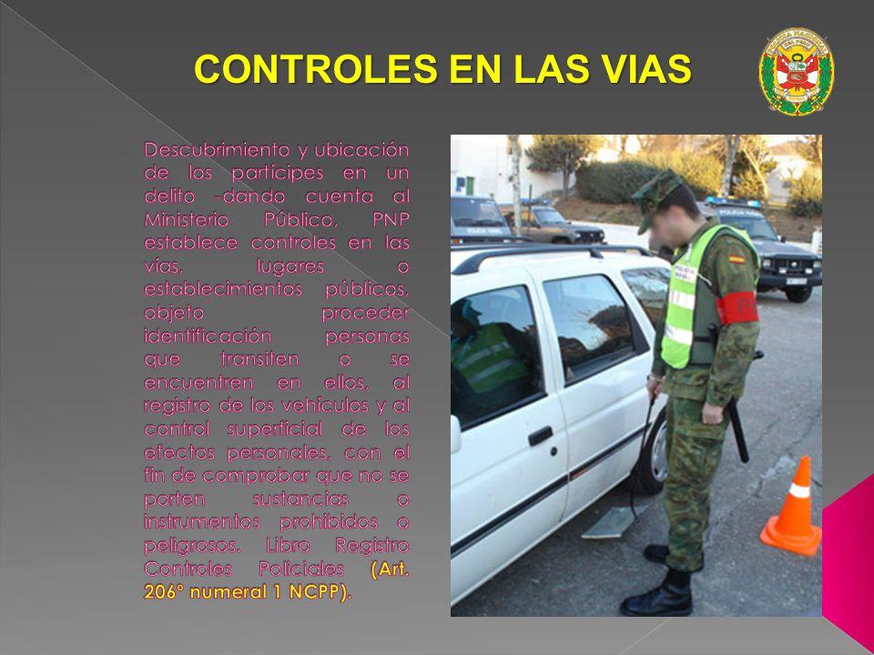 CONTROLES EN LAS VIAS