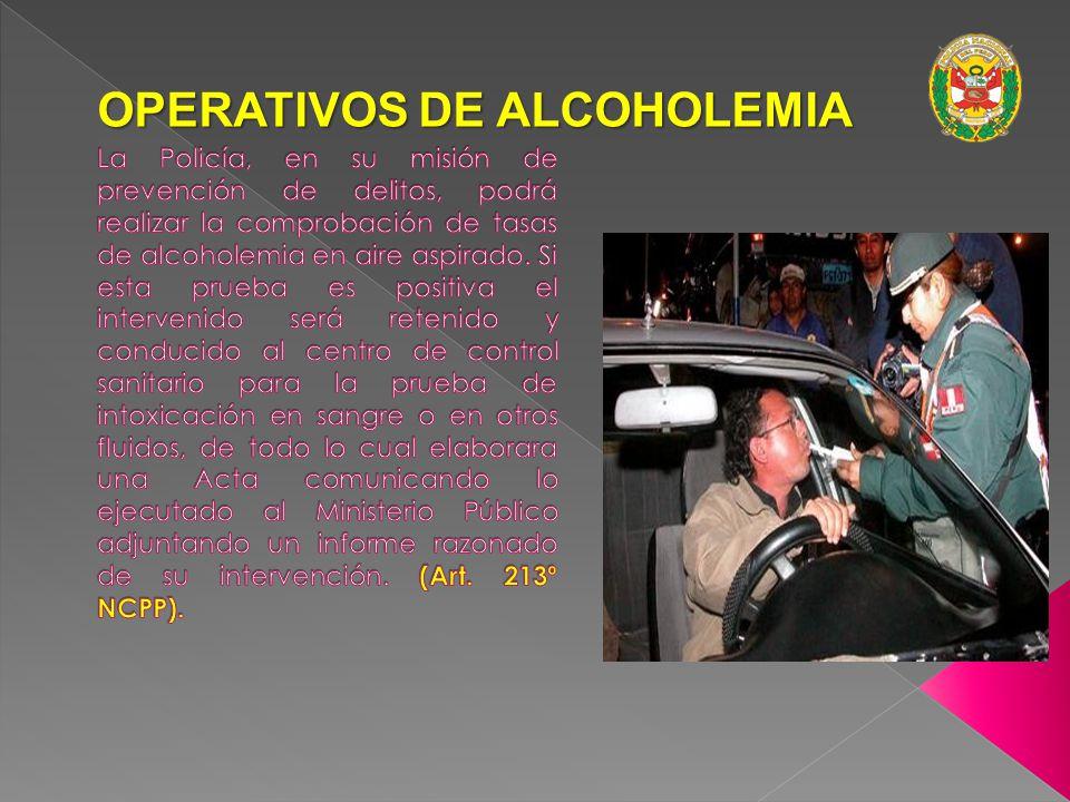 OPERATIVOS DE ALCOHOLEMIA