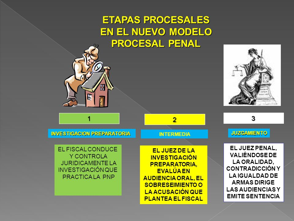 ETAPAS PROCESALES EN EL NUEVO MODELO PROCESAL PENAL