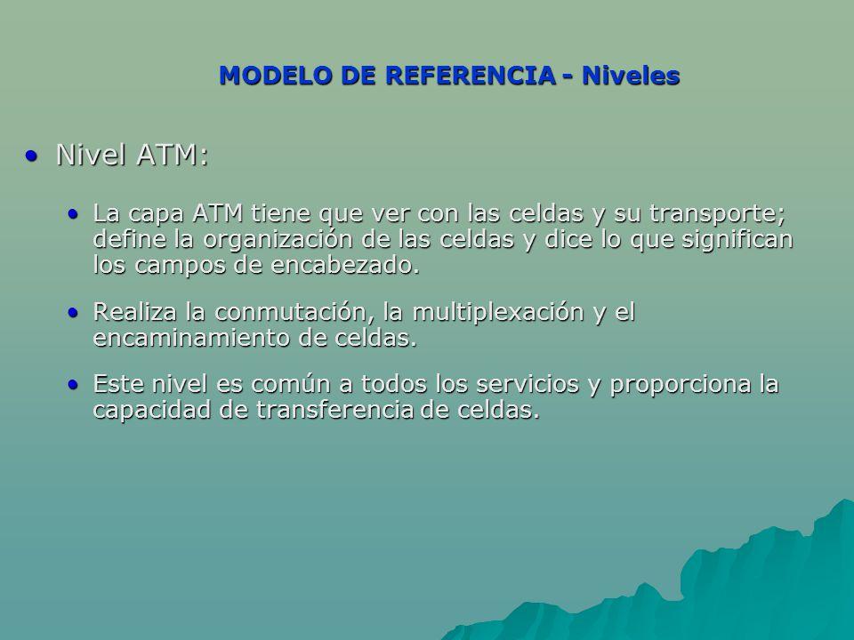 MODELO DE REFERENCIA - Niveles