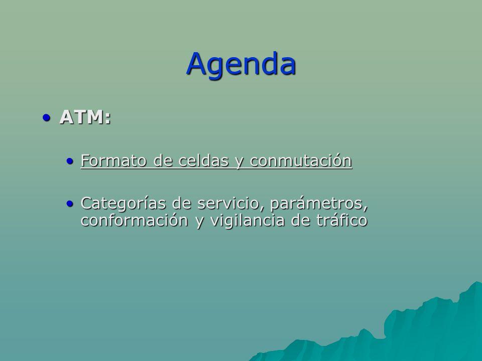 Agenda ATM: Formato de celdas y conmutación
