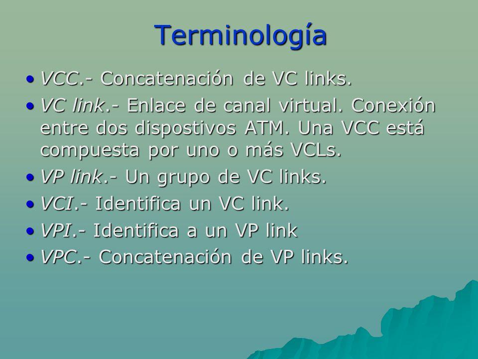 Terminología VCC.- Concatenación de VC links.