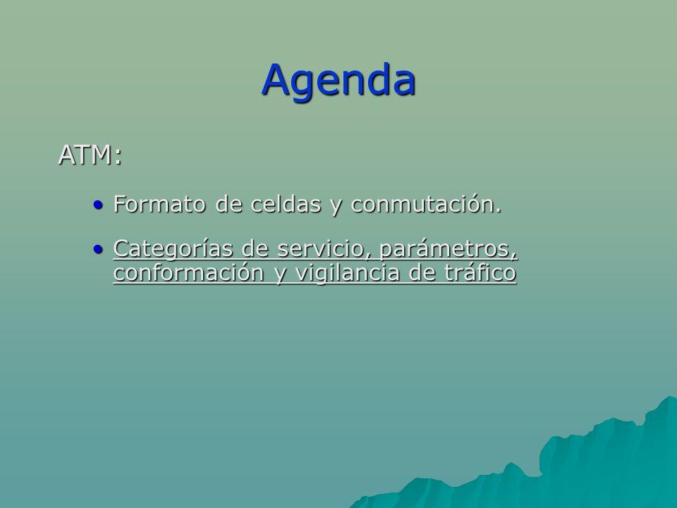 Agenda ATM: Formato de celdas y conmutación.